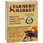 Farmers Market All Natural Organic Bar Soap Pumpkin Spice 5.5 oz.