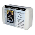 One With Nature All Natural Dead Sea Minerals Salt Soap 7 oz.
