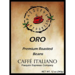 Pasquini Gourmet Coffee - Caffe Italiano - Two 12 oz. Bags. Choose whole beans, ground, or one of each